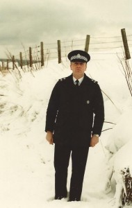 PC Eddy Ross on duty with Northern Constabulary